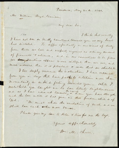 Letter from William M. Chace, Providence, [R.I.], to William Lloyd Garrison, May 30th, 1841