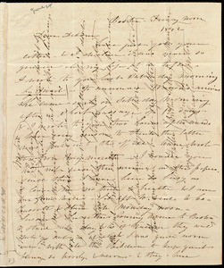 Letter from Caroline Weston, Boston, [Mass.], to Deborah Weston, Friday noon, 1842 [June 24]