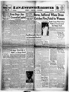 San Antonio Register (San Antonio, Tex.), Vol. 18, No. 48, Ed. 1 Friday, December 17, 1948 San Antonio Register