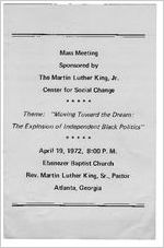 Martin Luther King, Jr. Center for Social Change - Program Brochures