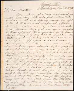 Letter from Samuel Joseph May, Brooklyn, to Amos Augustus Phelps, 1835 January 13
