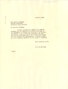 Letter from W. E. B. Du Bois to Lincoln University