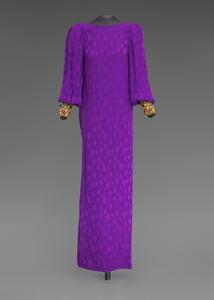 Purple dress designed by Oscar de la Renta and worn by Whitney Houston