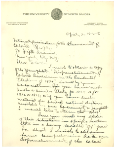 Letter from S. A. Hartz to the NAACP