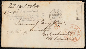 Letter from Eliza Wigham, Edinburgh, to Samuel May, 8.4.1864