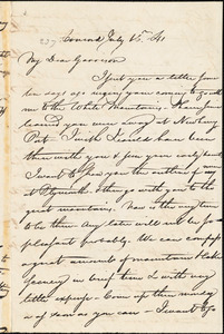 Letter from Nathaniel Peabody Rogers, Concord, [New Hampshire], to William Lloyd Garrison, [18]41 July 16th