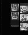 Set of negatives by Clinton Wright of a wedding celebration, 1968