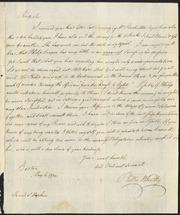 Phillis Wheatley letter to Rev. Samuel Hopkins] [manuscript