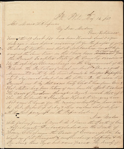 Letter from William P. Griffin, Pt. Plata, [Santa Domingo (Dominican Republic)], to Maria Weston Chapman, May 14 / [18]43