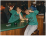 Two women at Jersey's Sports Bar, Minneapolis