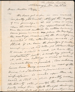 Letter from Joshua Leavitt, Attleboro, to Amos Augustus Phelps, Dec. 24. 1840