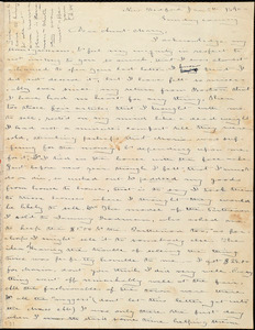 Letter from Deborah Weston, New Bedford, [Mass.], to Mary Weston, Jan 5th, 1840, Sunday evening