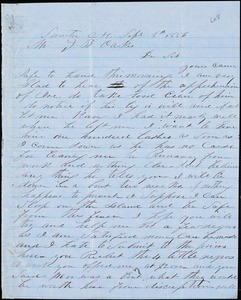 A. J. McElveen, Sumter Court House, S.C., autograph letter signed to Ziba B. Oakes, 8 September 1856