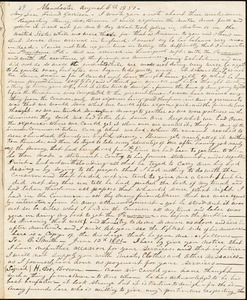 Letter from J.C.A. Smith, Manchester, [England], to William Lloyd Garrison, 1851 August 6th