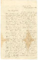 Letter from Bolling Hall at the University of Virginia to his father, Bolling Hall, in Alabama.