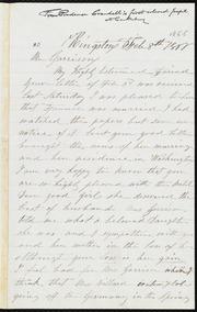 Letter to] Mr. Garrison [manuscript