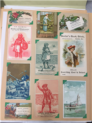 Scrapbook of Business Trade Cards: Books, Magazines, (Book 5)