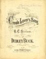 Creole lover's song : for baritone or contralto