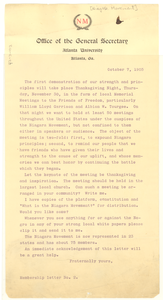 Niagara Movement membership letter No. 2