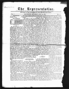 The Representative. (Galveston, Tex.), Vol. 1, No. 11, Ed. 1 Saturday, July 29, 1871 The Representative