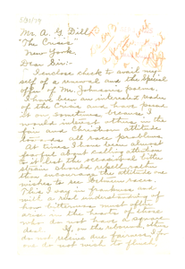 Letter from Anna R. Hadley to Augustus Granville Dill