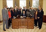 President Bush Signs Legislation Creating the NMAAHC