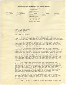 Letter from John H. Chase to W. E. B. Du Bois