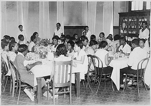 Federal Emergency Relief Administration: FERA camps for unemployed women. Negro camp in Atlanta, GA