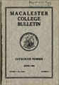 Macalester College Bulletin, Catalogue Number April 1913, Volume I, New Series, Number 3; Twenty-Eighth Annual Catalogue of Macalester College, Baldwin School (Preparatory), and School of Music 1912-1913, St. Paul, Minnesota