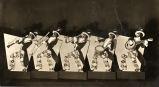Poster depicting a minstrel jazz show