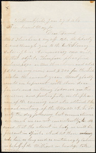 Letter from Josiah Henshaw, West Brookfield, [Mass.], to Samuel May, Jan. 27th, 1863