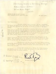 Circular letter from Paul Laurence Dunbar Apartments