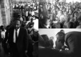 Images of Martin Luther King, Jr., speaking in Eutaw, Alabama.