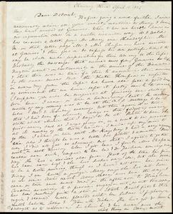 Letter from Anne Warren Weston, Chauncy Place, [Boston], to Deborah Weston, April 11, 1842
