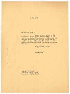 Letter from Ellen Irene Diggs to Jack S. Schell