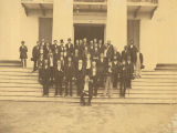 Members of the Alabama Reconstruction Senate on the steps of the Capitol in Montgomery, Alabama.