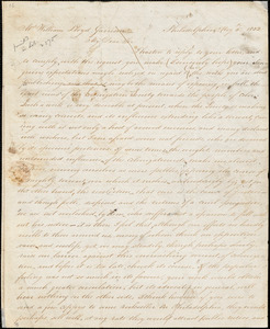 Thumbnail for Letter from James Forten, Philadelphia, [Pennsylvania], to William Lloyd Garrison, 1832 May 6th