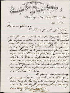 Letter from Robert Purvis, Washington, D.C., to William Lloyd Garrison, 1878 Dec[ember] 2