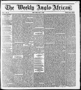 The Weekly Anglo-African. (New York [N.Y.]), Vol. 1, No. 42, Ed. 1 Saturday, May 5, 1860 The Weekly Anglo-African