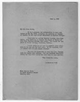 Correspondence, June 1, 1928