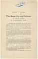 """""""Some Facts Concerning the State Normal School for Colored Students at Montgomery, Ala.,"""" written by the president, W. B. Patterson."""