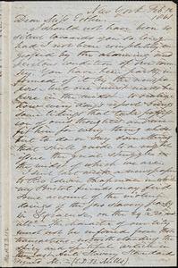 Letter from Samuel Joseph, New York, to Mary Anne Estlin, 1861 Feb[ruary] 12