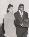 Jackie Robinson and his wife Rachel Robinson at White Rock Baptist Church