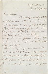 Letter from Louis Alexis Chamerovzow, Rue Castellane 3, Paris, [France], to Maria Weston Chapman, 1st Sept. 1854