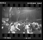 "MTV's Mark Goodman interviewing comedian Eddie Murphy at premiere of motion picture ""Purple Rain"", 1984"