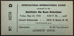 Intercultural-International Dance presented by the Institute on Race Relations