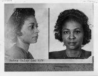 Mississippi State Sovereignty Commission photograph of Daisy Lee Bates following her arrest in Little Rock, Arkansas, 1950s