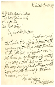 Letter from J. Harvey Hebron to W. E. B. Du Bois