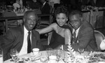 Guy Crowder, Donald Bohana, and an unidentified woman at a special event, Los Angeles, ca. 1983