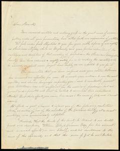 Letter from Ann Carroll Fitzhugh Smith, Boston, to William Lloyd Garrison, Nov. 23, 1833